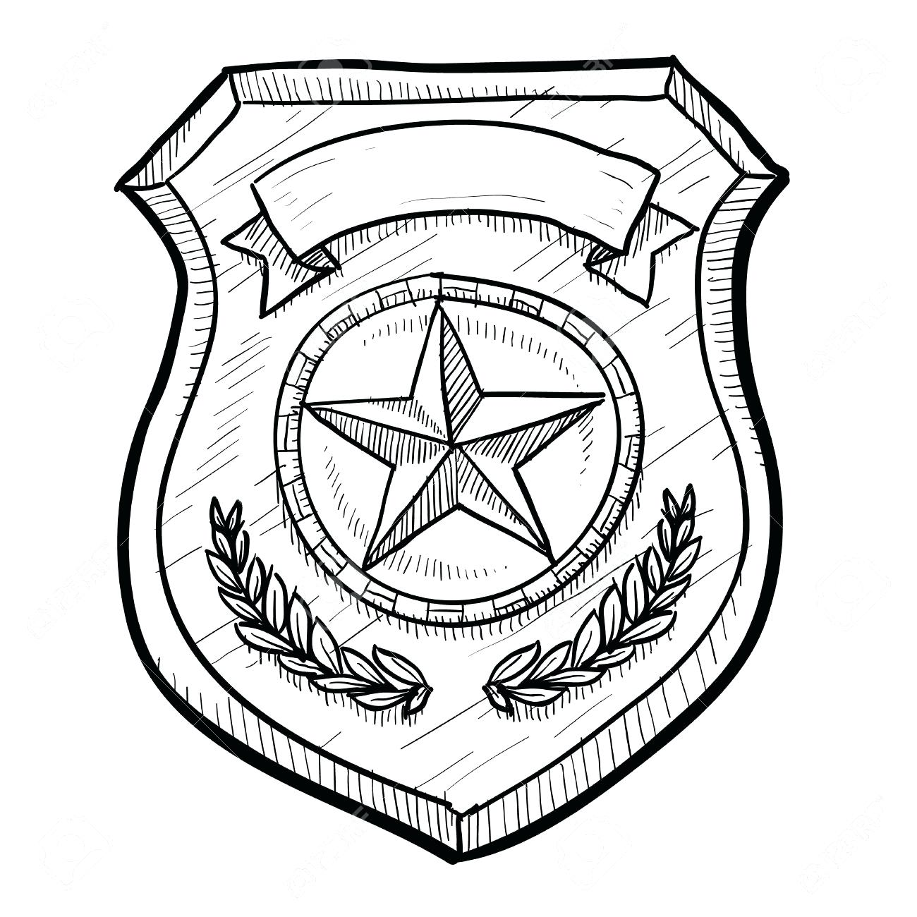 1300x1300 Police Badge Coloring Page Msyldt