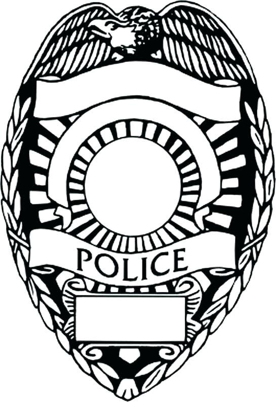 545x793 Police Badge Coloring Page Police Badge Coloring Page Police Badge