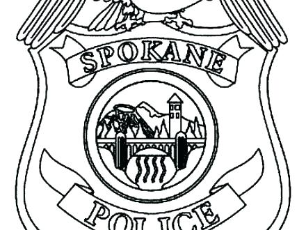440x330 Police Badge Coloring Page Police Officer Badge Coloring Page