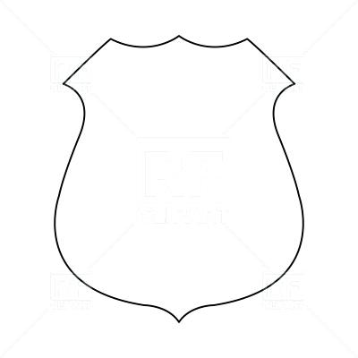 400x400 Police Badge Outline Graphic Kids Coloring Police Badge Coloring