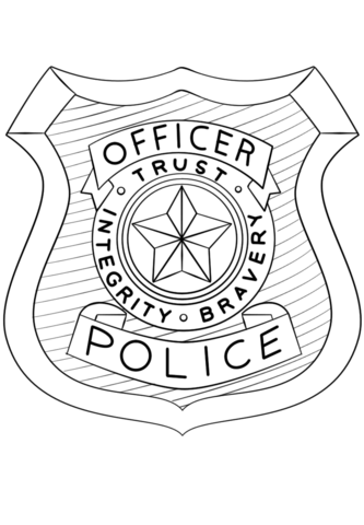 333x480 Printable Police Badge Police Officer Badge Coloring Page Free