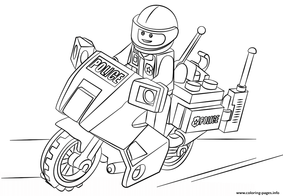 1186x824 Lego Moto Police Car Coloring Pages Printable For Page Childlife