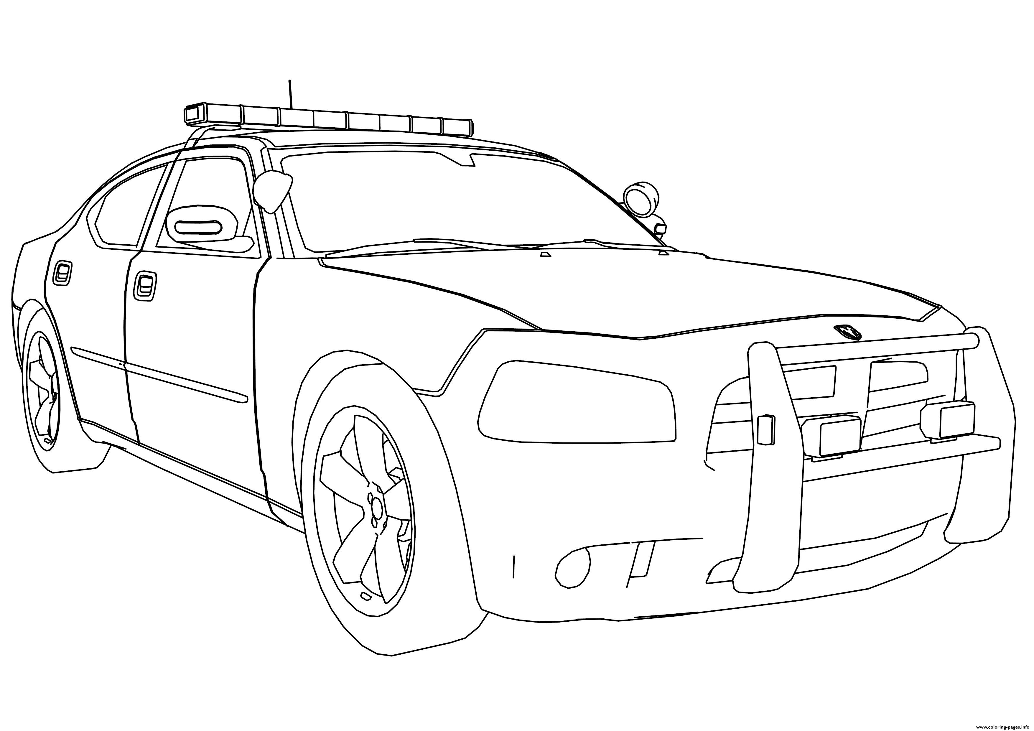 3508x2480 New Police Car Dodge Charger Coloring Pages Printable And Auto