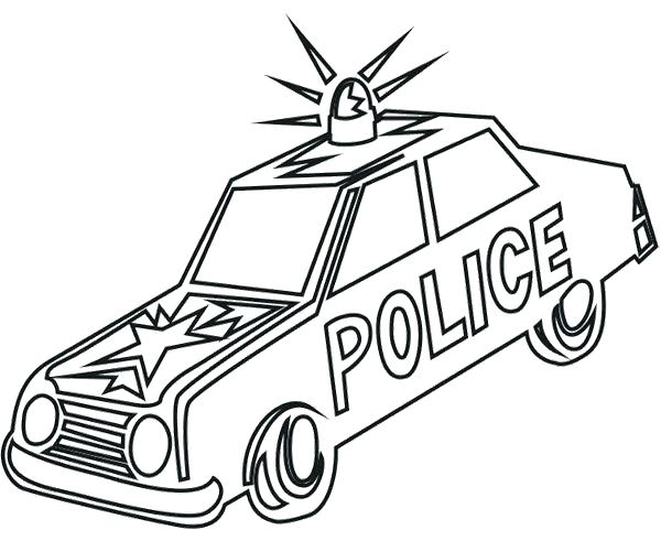600x491 Old Car Coloring Pages Police Car Coloring Sheet Old Car Police