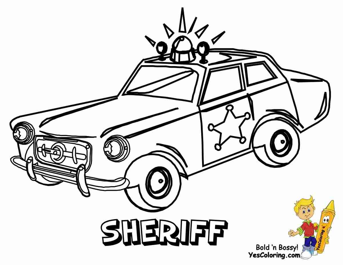 1200x927 Police Car Coloring Pages Free Printable Also Cop Car Olegratiy