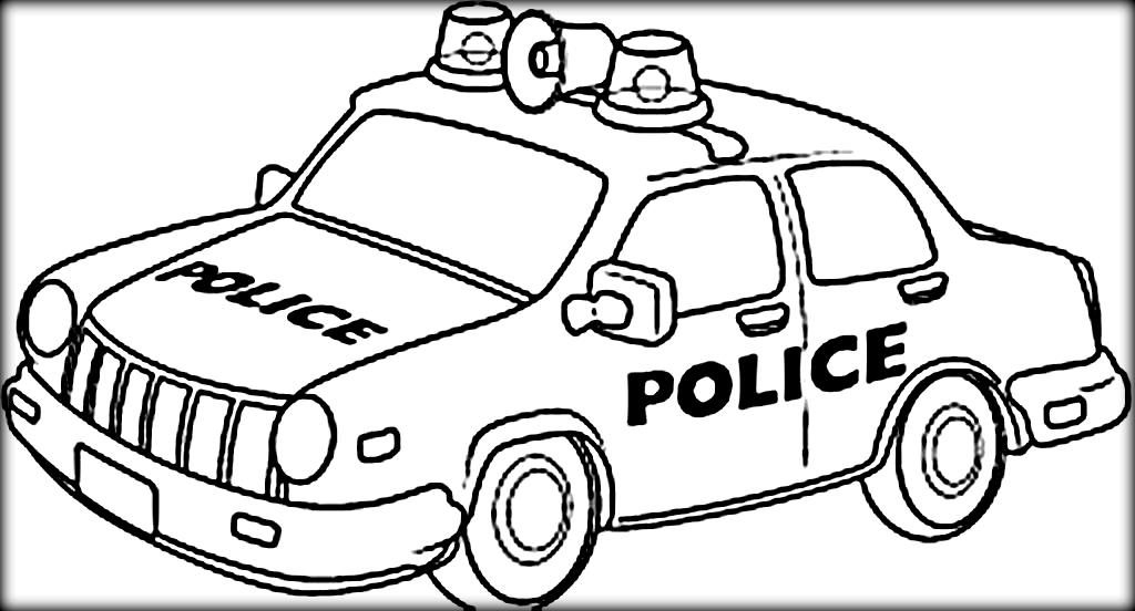 1024x552 Police Car Coloring Page Police Color Page Coloring Pages For Kids