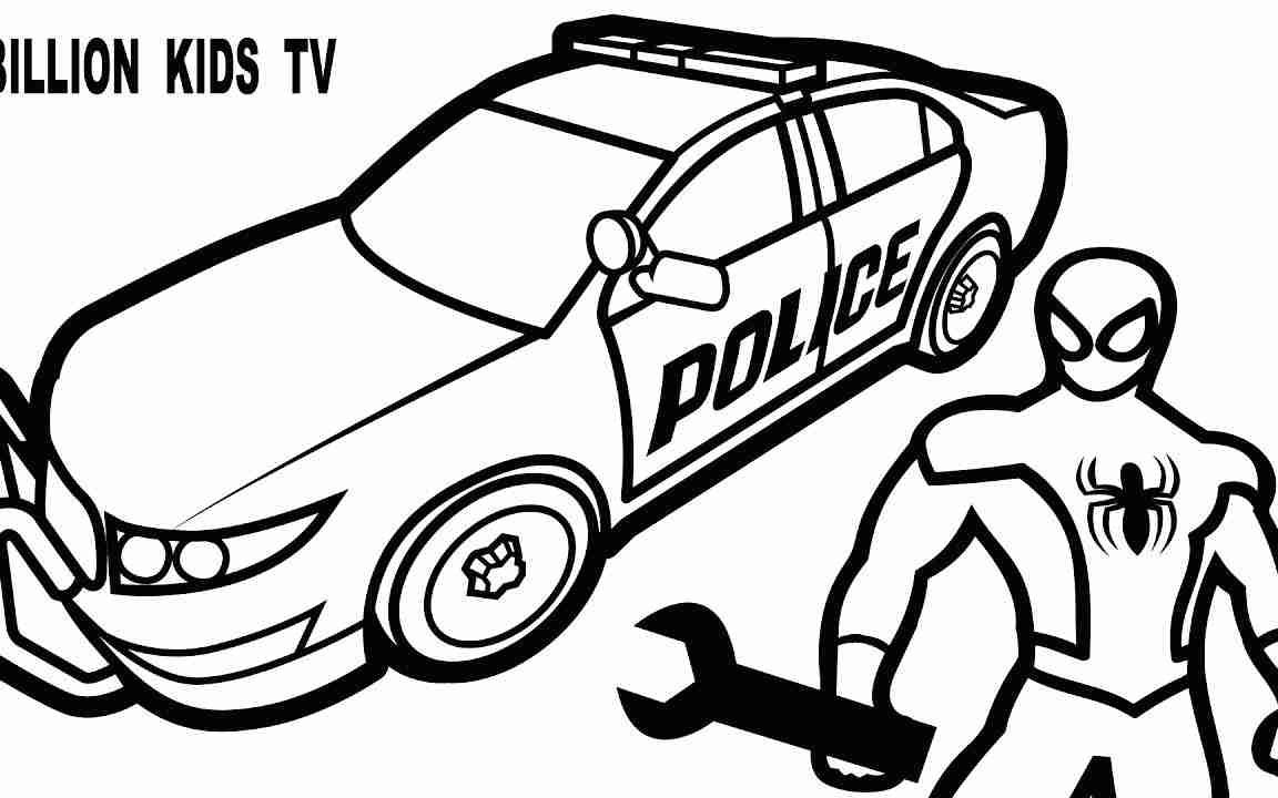 1152x720 Police Car Coloring Pages Online Colouring To Print Cop Sheets