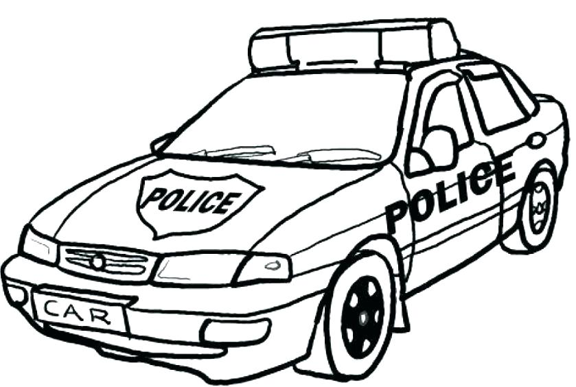 839x564 Police Car Colouring Pages To Print Car Coloring Pages To Print