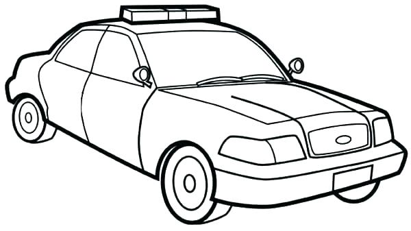 600x337 Police Car For Colouring Drift Coloring Pages Police Car Colouring