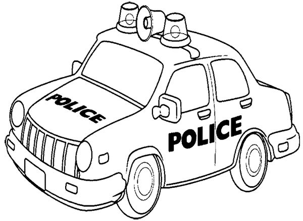 600x439 Printable Police Car Coloring Pages For Kids