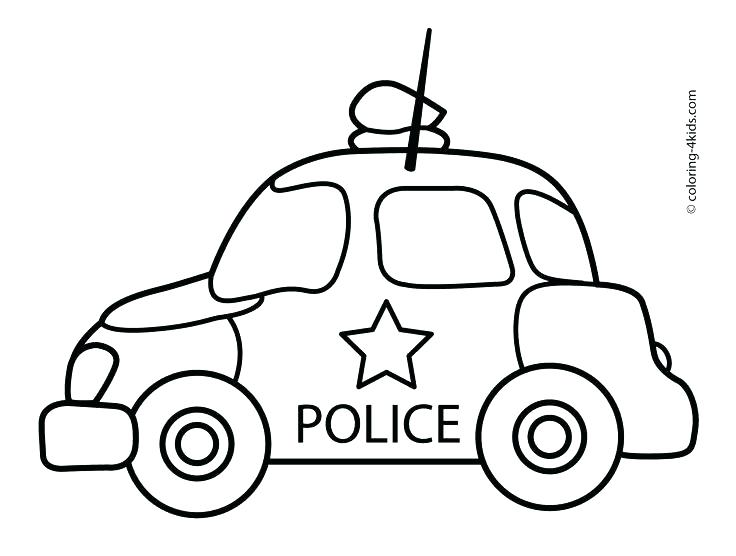 736x556 Transportation Coloring Sheets Police Car Coloring Page Plus