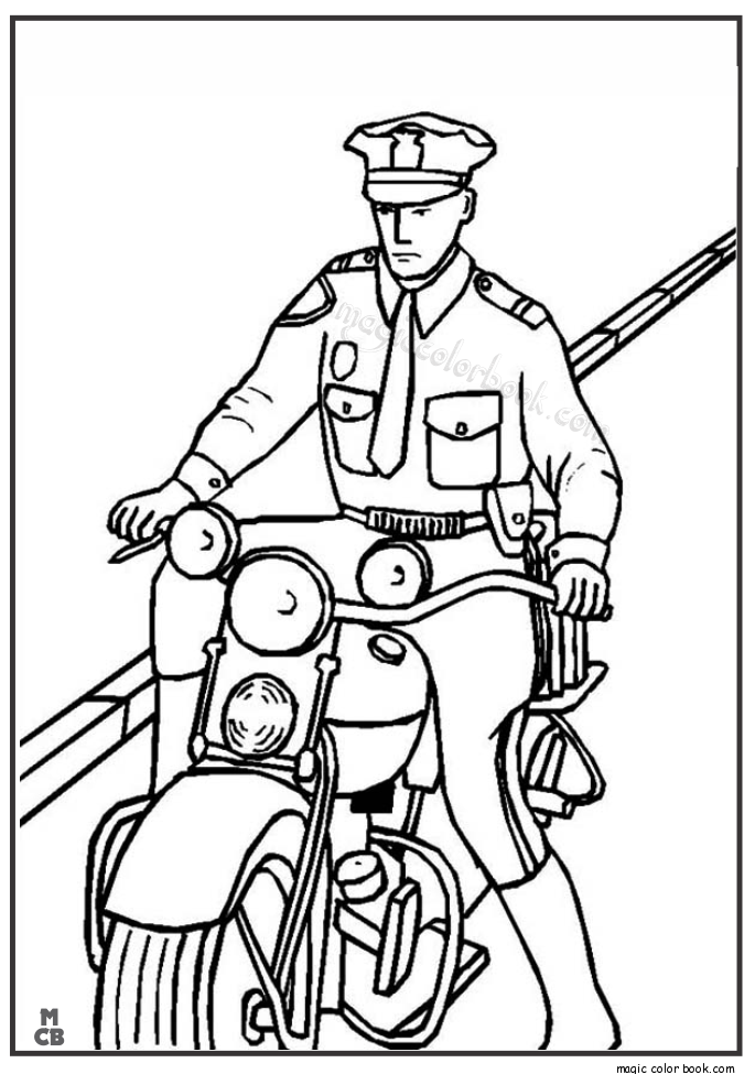 685x975 Police Motorcycle Coloring Pages