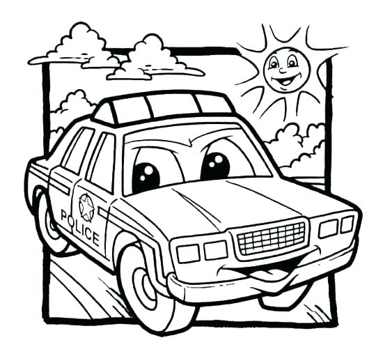 550x521 Coloring Pages Of Police Cars Police Car Coloring Best Of Police