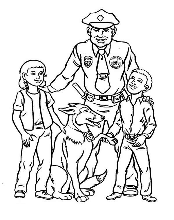600x759 Police Officer Coloring Pages Unique Police Coloring Pages