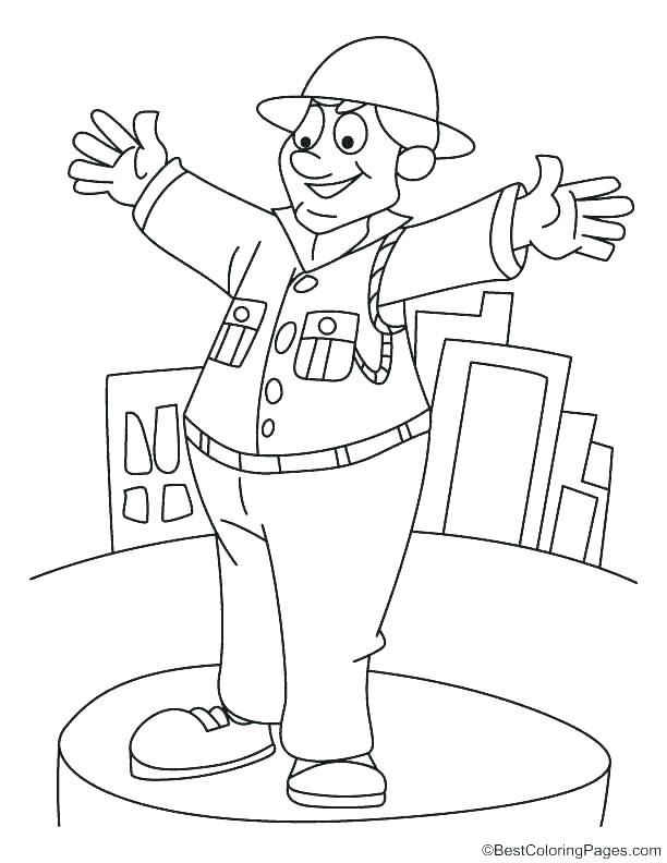 612x792 Policeman Coloring Page Police Car Coloring Pages Online Kids