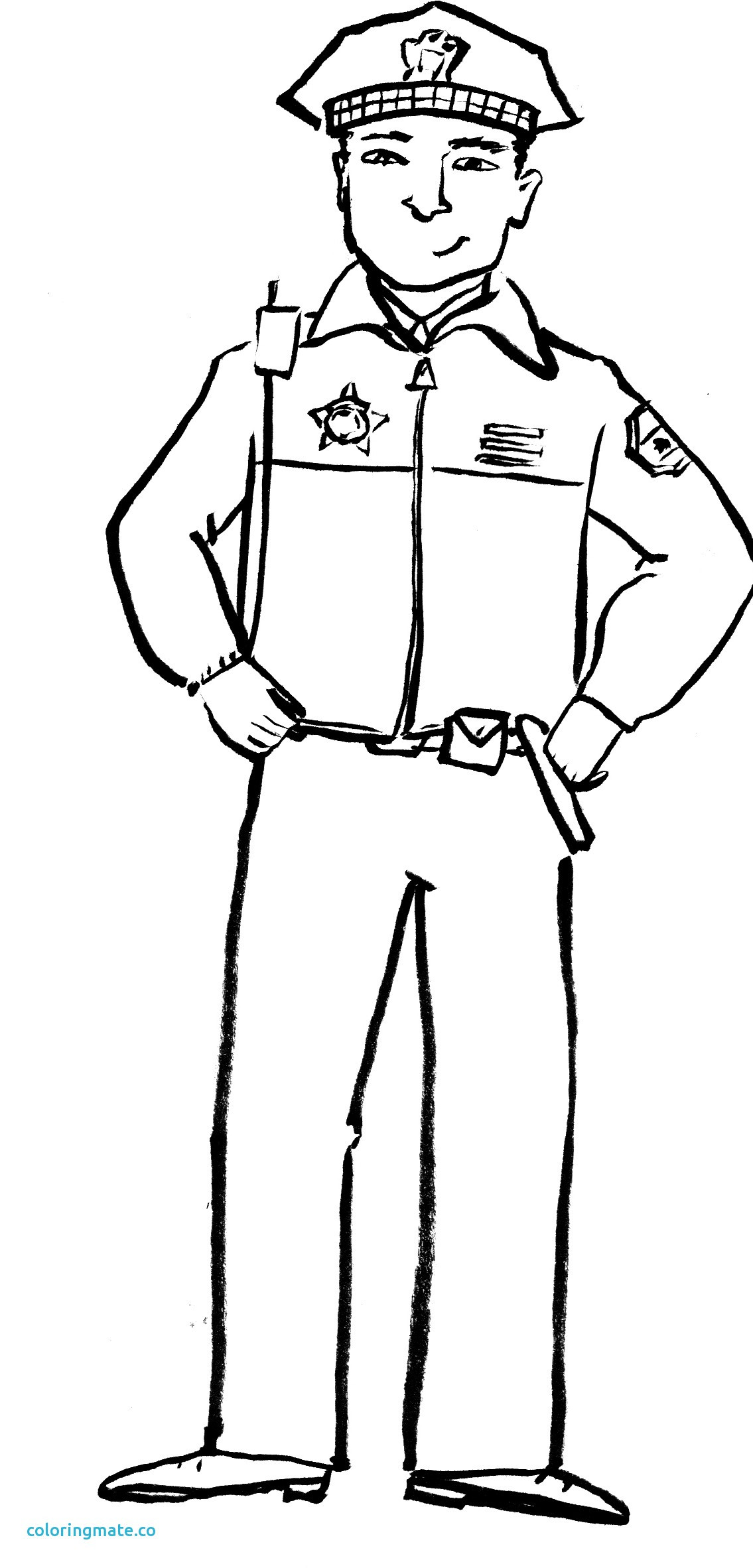 1135x2364 Simple Police Officer Coloring Pages Free Printable Policeman