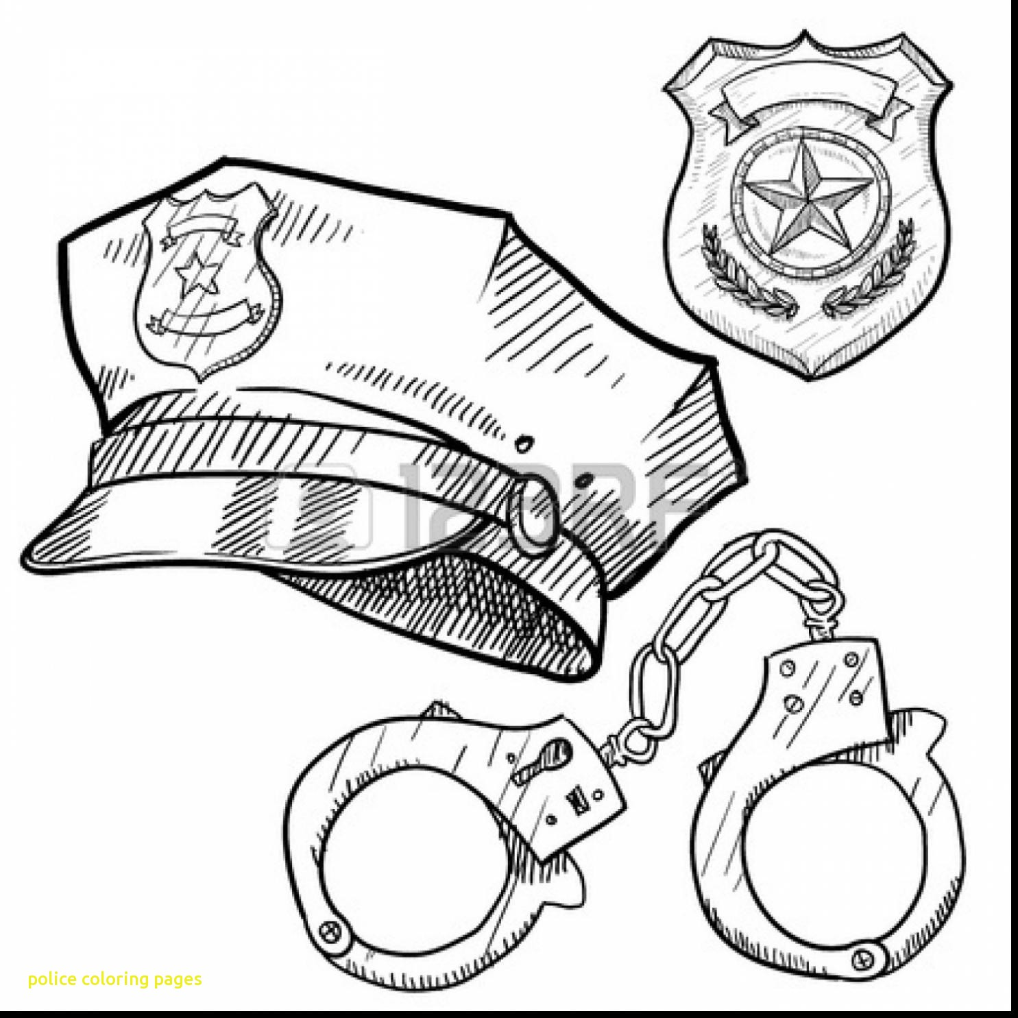 1485x1485 Successful Police Colouring Pictures Car Color