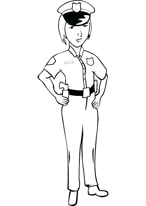 595x842 Police Coloring Pages