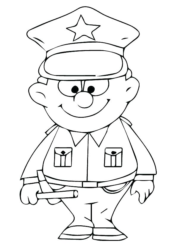 595x842 Police Station Coloring Pages
