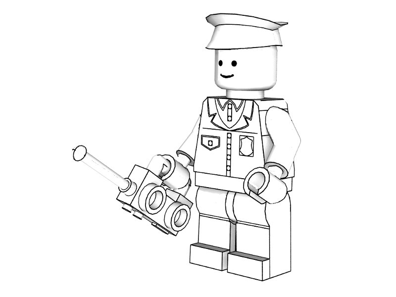 800x600 Lego Police Coloring Pages