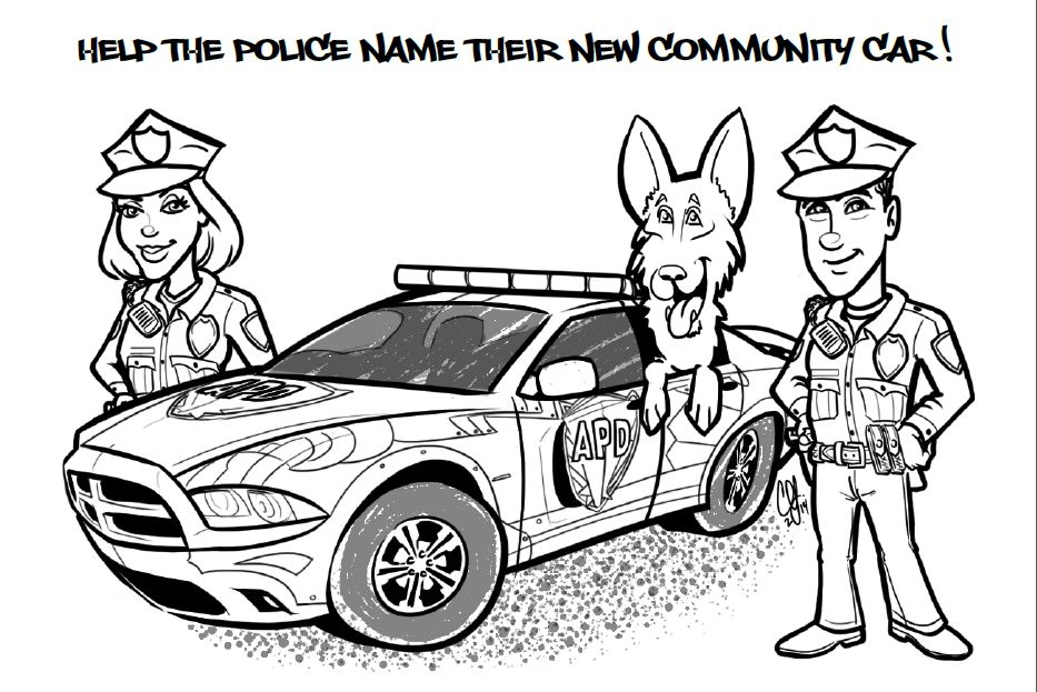 933x623 Police Car Coloring Pages