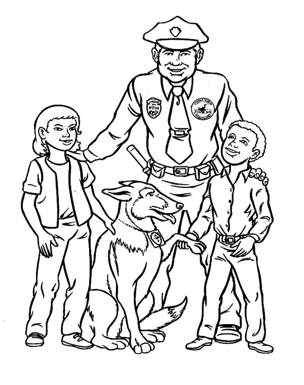 600x759 Police Coloring Page Police Car Coloring Page Together With Police