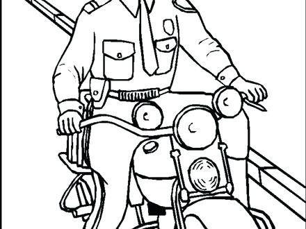 440x330 Police Coloring Pages To Print Free Printable Policeman Coloring