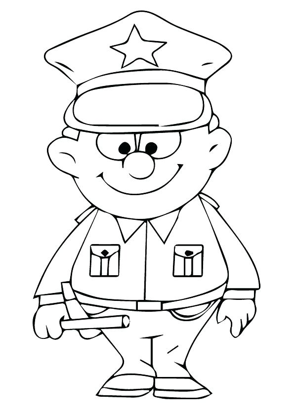 595x842 Policeman Coloring Pages Policeman Coloring Pages Printable Police