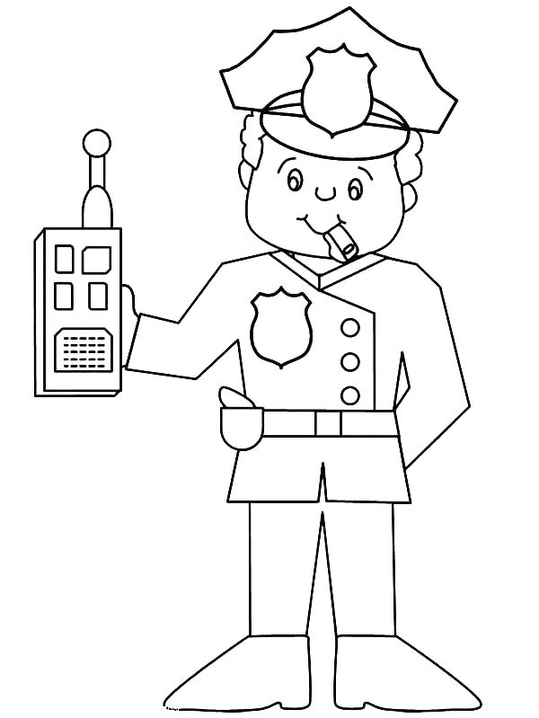 600x799 Policeman Coloring Pages