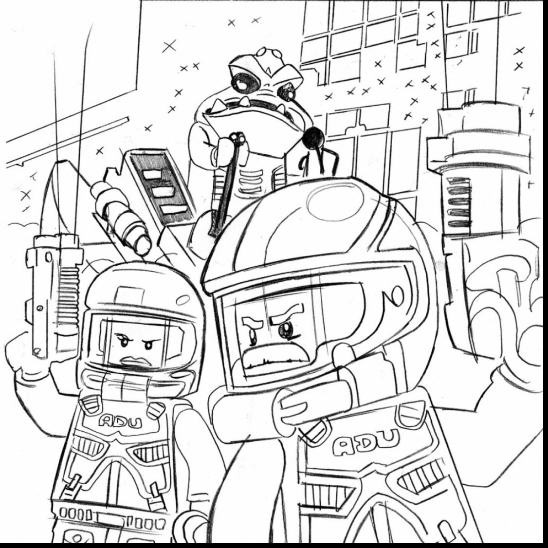 1126x1126 Lego Forest Police Coloring Pages