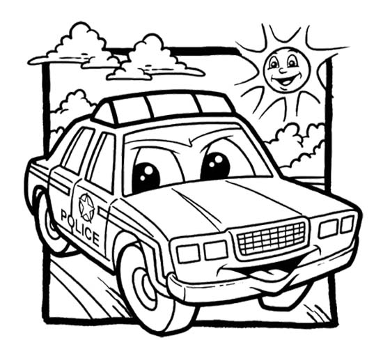 550x521 Police Car Coloring Pages For Kids