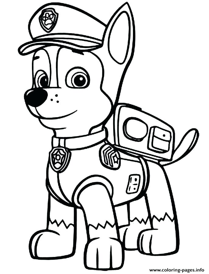 687x900 Police Coloring Pages Paw Patrol Chase Police Man Coloring Pages