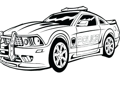 500x357 Cop Car Coloring Pages