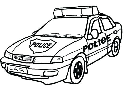 472x338 Police Cars Coloring Pages