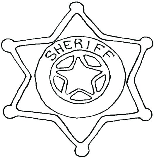 526x541 Police Hat Coloring Page Police Badge Coloring Page Sheriff Badge