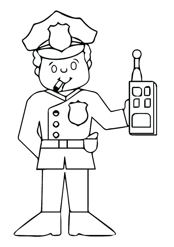 595x842 Police Hat Coloring Page Police Hat Coloring Page Police Hat