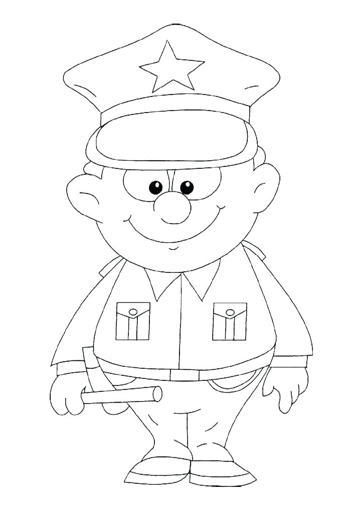 700x1005 Police Hat Coloring Page Police Hat Coloring Page Police Officer