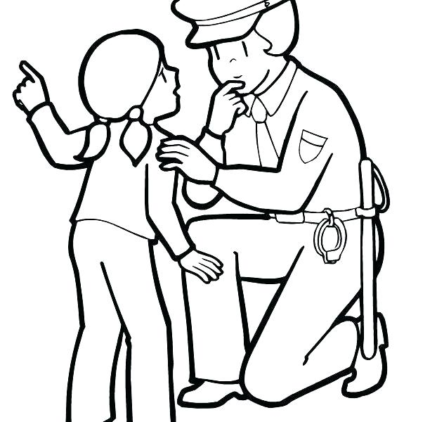 622x600 Police Hat Coloring Page Police Officer Coloring Page Together