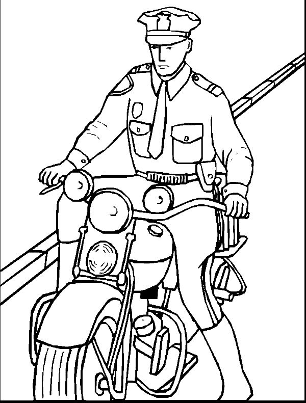 600x791 Police Officer Coloring Pages New A Police Hat Coloring Pages