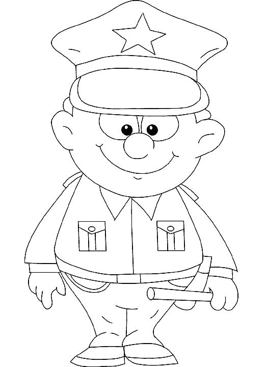 522x720 Policeman Coloring Page Police Coloring Pages Policeman Hat
