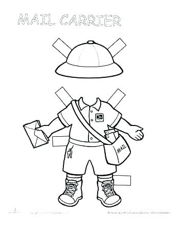 350x453 Police Hat Coloring Page