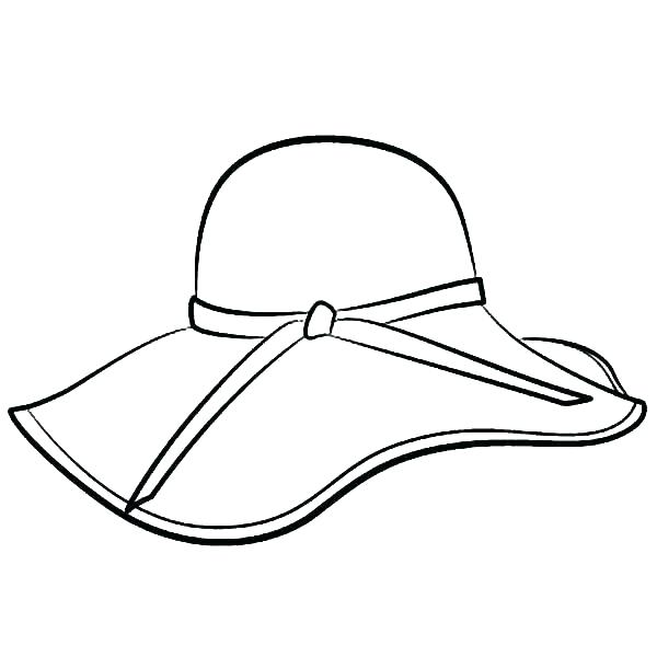 600x600 Police Hat Coloring Page