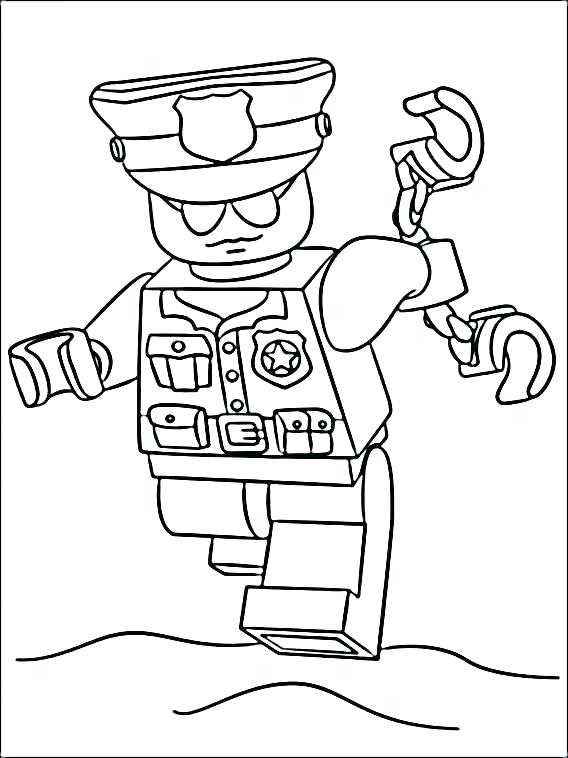 568x758 Coloring Pages Police Police Officer Coloring Pages Police Hat