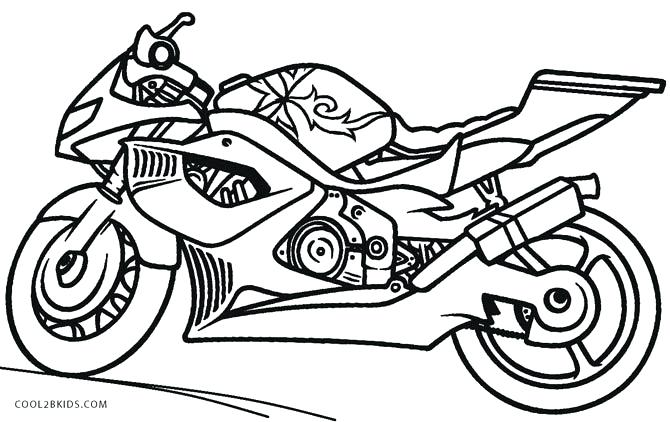 670x422 Motorcycle Color Pages Motorcycle Coloring Page For Kids Printable