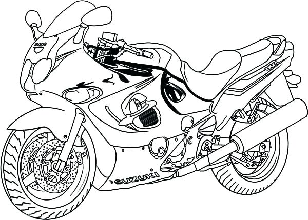 600x429 Motorcycle Coloring Pages Printable Motorcycle Coloring Page