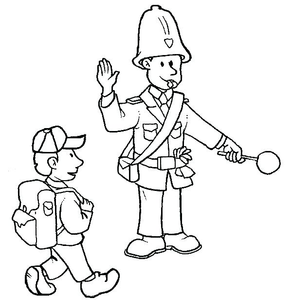 600x616 Police Coloring Page Police Coloring Pages To Print Police