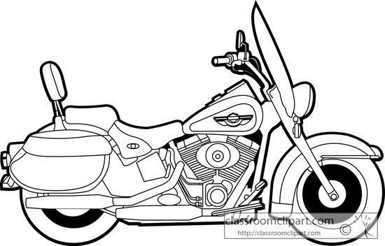 550x352 Police Motorcycle Clipart Harley Davidson Coloring Pages To Print
