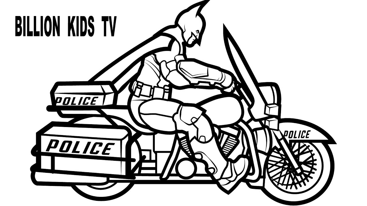 1280x720 Police Motorcycle Coloring Pages Murderthestout Picturesque