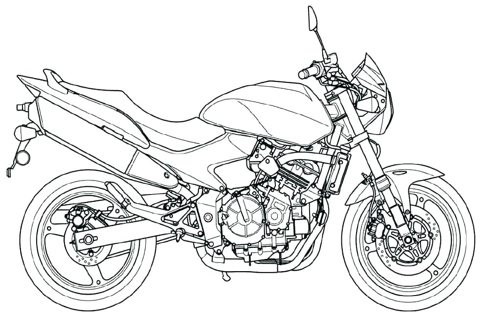1000x650 Coloring Pages Motorcycle Motorcycle Coloring Pages Coloring Pages