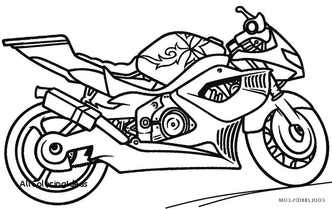 Police Motorcycle Coloring Pages At Getdrawings Com Free For